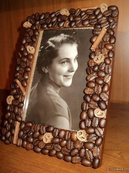 Рамки для фото своими руками с кофейными зернами