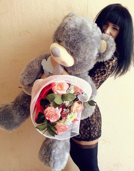 Фото подарка на Новый год: Мишутка и цветочки - Карина, Калининград