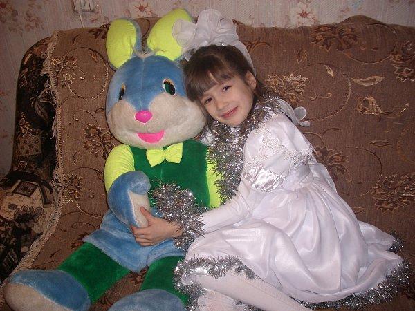 Фото подарка на Новый год: папа подарил большого зайца - Катя, 15 лет, Чебоксары
