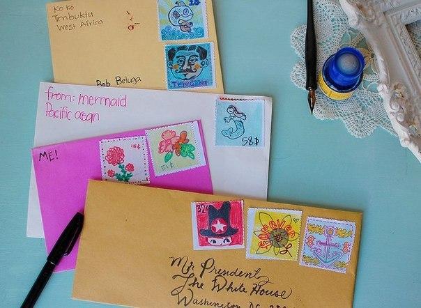 Что можно сделать из почтовых открыток