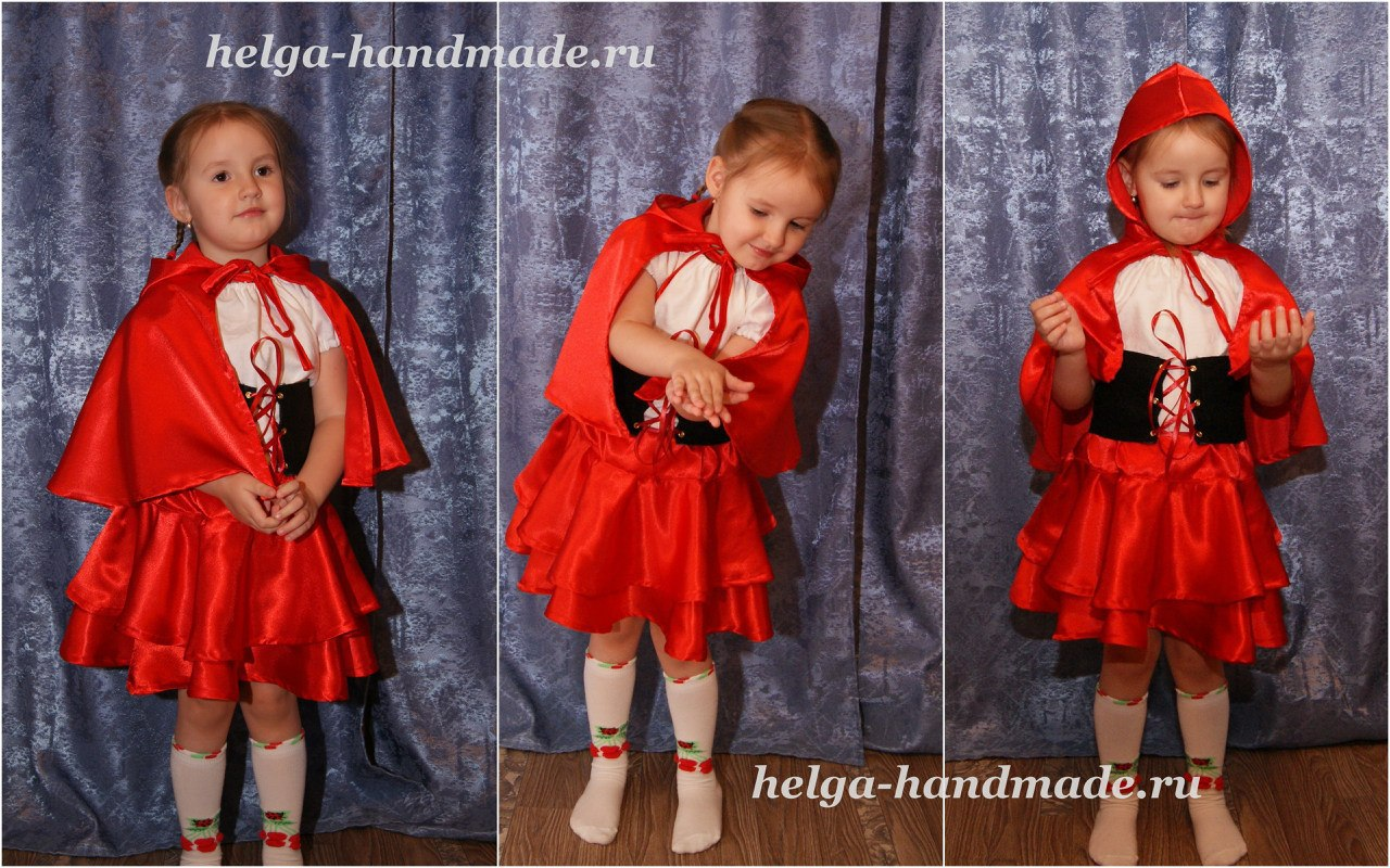 c7921bc83ba Шьем детский новогодний костюм Красной шапочки своими руками.