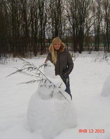 Фото: Таня, 43 года, Алексин в конкурсе «Снеговики и снежные бабы»