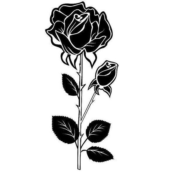 Картинки черно белая роза