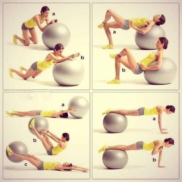 тренировки на фитболе для похудения