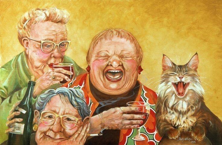 Юбилей, смешные картинки двух друзей в старости