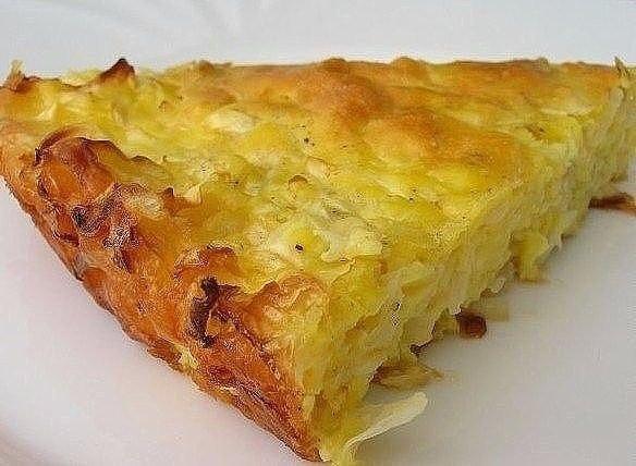 Капустный пирог для ленивых.Ингредиенты: капуста – около 0,5 кг растительное масло - для ...