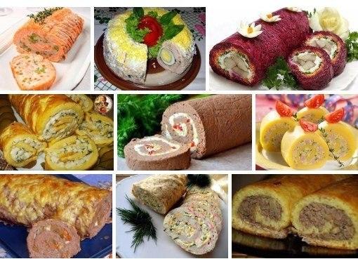 ТОП - 9 рецептов закусочных рулетов к праздничному столу и на каждый ...