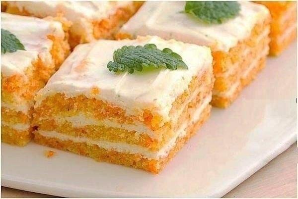 Легкое морковное пирожное - идеально для сладкоежек с тонкой талией! на 100 грамм - 126.35 ккал ...